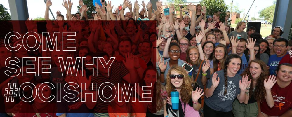 Come See Why OC is Home - group of students looking happy