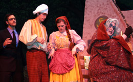 students performing in a theater production